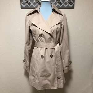 Michael Kors Trench Coat Double Breasted, Size S